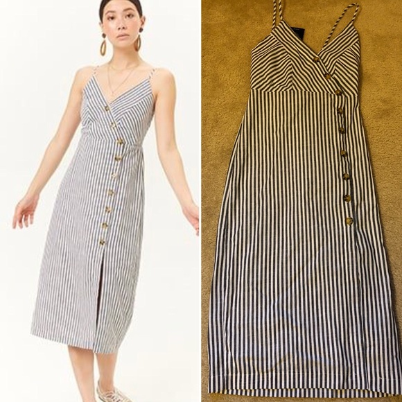 bf476f0d838 Forever 21 striped button front midi dress